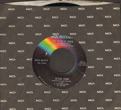 John, Elton - The Bitch Is Back/Cold Highway (with MCA company sleeve) - NM9/ - 45 rpm Records