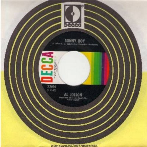 Jolson, Al - Sonny Boy/My Mammy (multi-color label 1960s pressing with Decca company sleeve) - NM9/ - 45 rpm Records