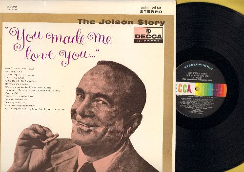 Jolson, Al - The Jolson Story: You Made Me Love You: Alexander's Ragtime Band (with Bing Crosby), I Wish I Had A Girl (vinyl STEREO LP record, 1960s pressing) - M10/NM9 - LP Records