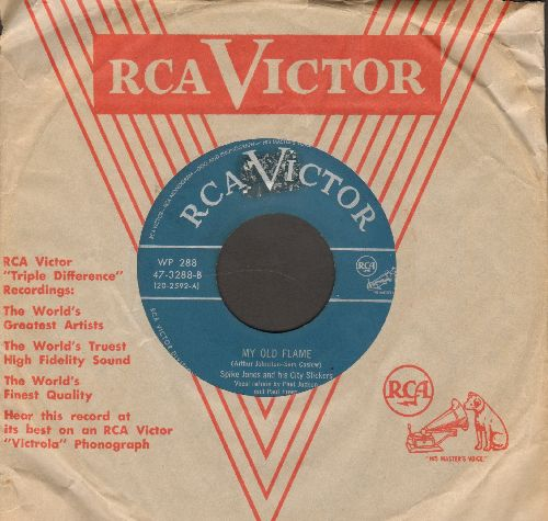 Jones, Spike & His City Slickers - My Old Flame/Love In Bloom (turquoise label early 1950s pressing with vintage RCA company sleeve) - EX8/ - 45 rpm Records