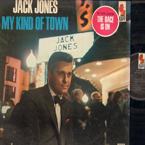 Jones, Jack - My Kind Of Town: The Race Is On, More, King Of The Road (vinyl MONO LP record) - EX8/EX8 - LP Records