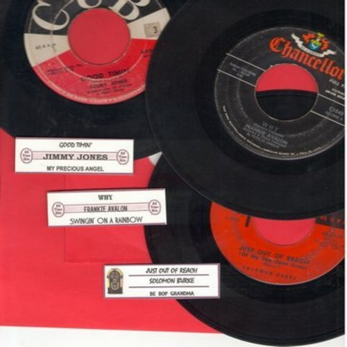Burke, Solomon, Jimmy Jones, Frankie Avalon - Juke Box Trio #1216: First issues in very good or better condition, includes hits Why, Just Out Of Reach and Good Timing. With customized juke box labels, great set for a Juke Box! - EX8/ - 45 rpm Records