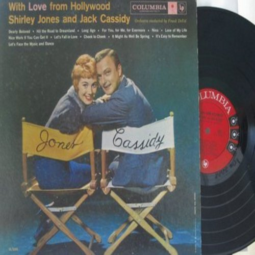 Jones, Shirley & Jack Cassidy - With Love From Hollywood: Let's Fall In Love, Cheek To Cheek, Let's Face The Music And Dance, Dearly Beloved (vinyl MONO LP record) - M10/EX8 - LP Records