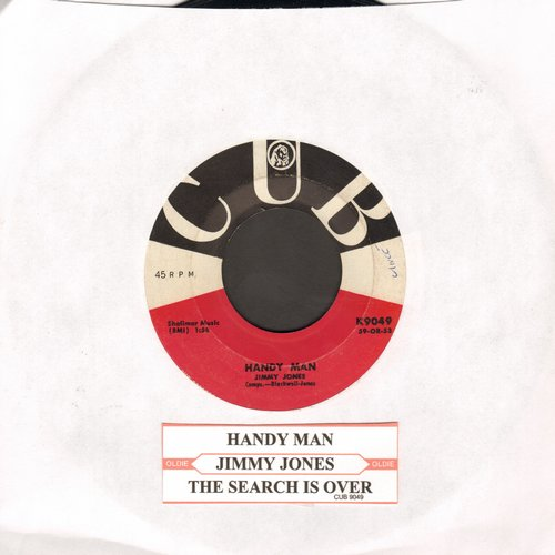 Jones, Jimmy - Handy Man/The Search Is Over (with juke box label) - EX8/ - 45 rpm Records