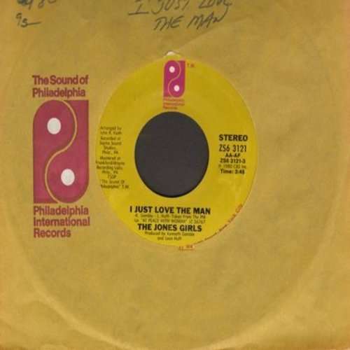 Jones Girls - I Just Love The Man/When I'm Gone (with Philadelphia International company sleeve) - NM9/ - 45 rpm Records