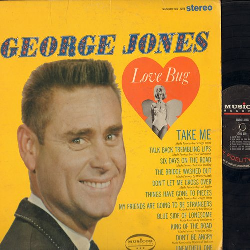 Jones, George - Love Bug: Take Me, King Of The Road, Don't Be Angry, Talk Back Trembling Lips (vinyl STEREO LP record) - VG7/VG7 - LP Records