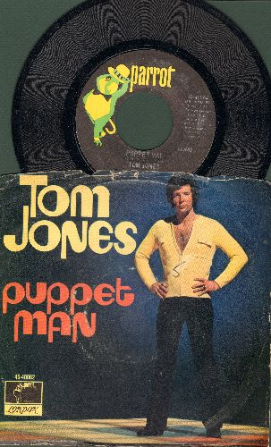 Jones, Tom - Puppet Man/Resurrection Shuffle (with picture sleeve) - NM9/VG7 - 45 rpm Records