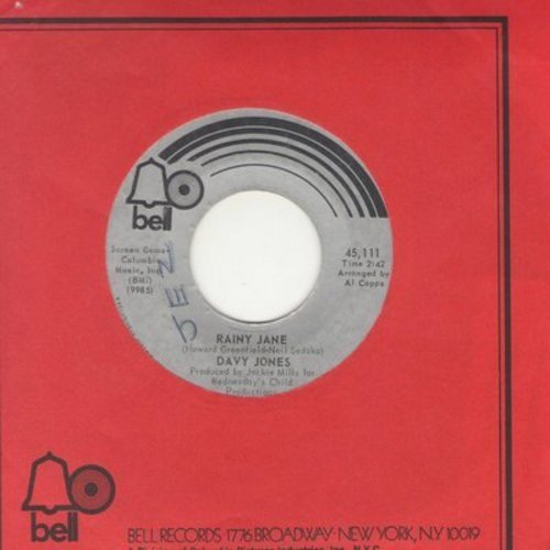 Jones, Davy - Rainy Jane/Welcome To My Love (with Bell company sleeve) - EX8/ - 45 rpm Records