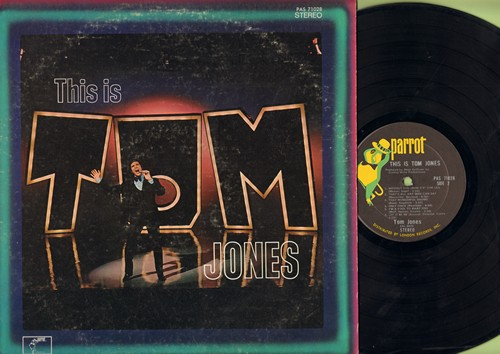 Jones, Tom - This Is Tom Jones: Little Green Apples, Let It Be Me, Hey Jude, (Sitting On) The Dock Of The Bay, Fly Me To The Moon (vinyl STEREO LP record) - EX8/VG7 - LP Records