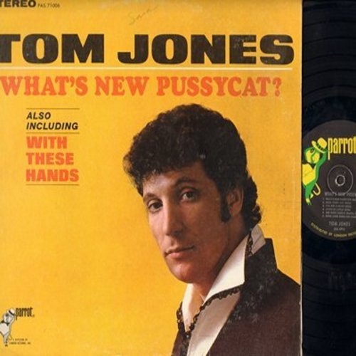 Jones, Tom - What's New Pussycat?: With These Hands, One More Chance, Endlessly, Little By Little (vinyl STEREO LP record) - EX8/EX8 - LP Records