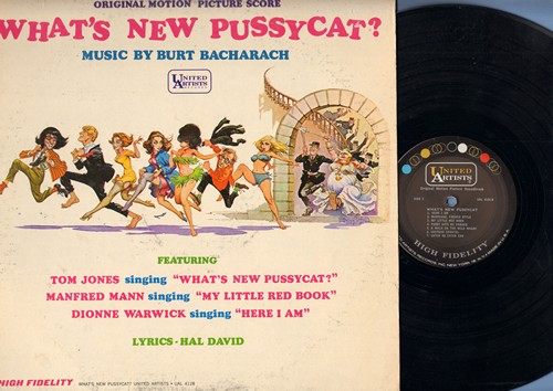 Jones, Tom, Manfred Mann, Dionne Warwick - What's New Pussycat? - Original Motiuon Picture Score featuring Title Song by Tom Jones and Music by Burt Bacharach (vinyl MONO LP record) - EX8/VG7 - LP Records
