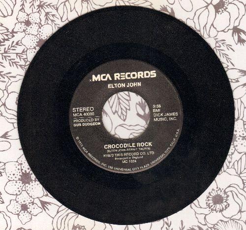 John, Elton - Crocodile Rock/Elderberry Wine - M10/ - 45 rpm Records