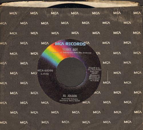 Jolson, Al - Sonny Boy/My Mammy (re-issue of vintage recordings with MCA company sleeve) - NM9/ - 45 rpm Records
