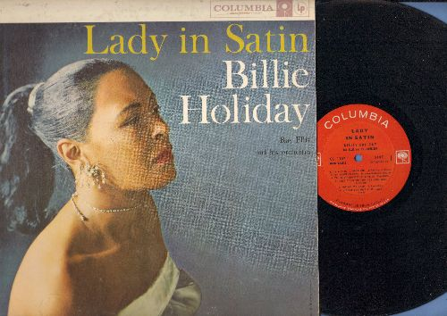 Holiday, Billie - Lady In Satin: For All We Know, Glad To Be Unhappy, It's Easy To remember, You've Changed (vinyl MONO LP record) - VG7/VG7 - LP Records