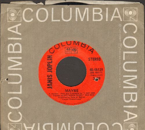 Joplin, Janis - Maybe/Work Me, Lord (with Columbia company sleeve, bb) - VG7/ - 45 rpm Records
