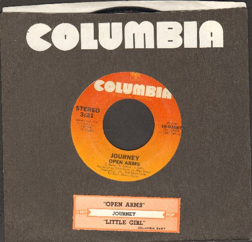 Journey - Open Arms/Little Girl (with Columbia company sleeve and juke box label) - NM9/ - 45 rpm Records