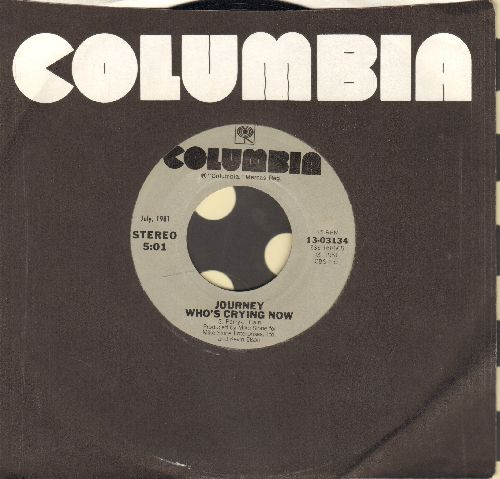 Journey - Who's Crying Now/Don't Stop Believin' (double-hit re-issue with Columbia company sleeve) - NM9/ - 45 rpm Records