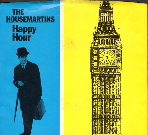 Housemartins - Happy Hour (double-A-sided DJ advance pressing with picture sleeve) - M10/EX8 - 45 rpm Records