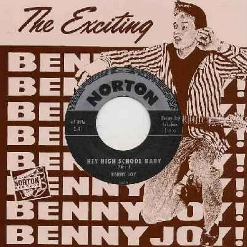 Joy, Benny - Hey High School Baby/Little Red Book (re-issue of RARE Vintage Rock-A-Billy recordings, with Benny Joy picture sleeve!) - M10/M10 - 45 rpm Records