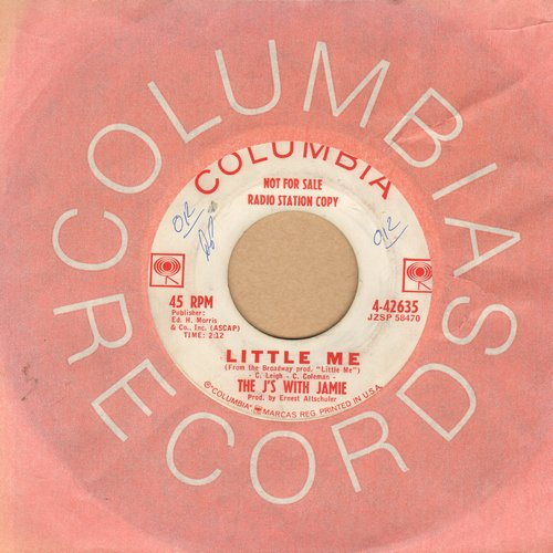 J's With Jamie - Little Me/Come On Strong (DJ advance pressing with Columbia company sleeve) - EX8/ - 45 rpm Records