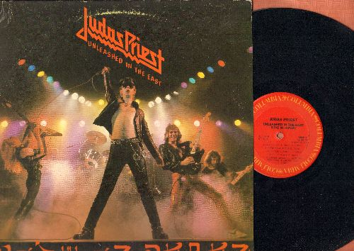 Judas Priest - Unleashed In The East: Exciter, Running Wild, Sinner, Ripper, Tyrant, Genocide, Diamonds And Rust (vinyl STEREO LP record) - VG7/VG7 - LP Records