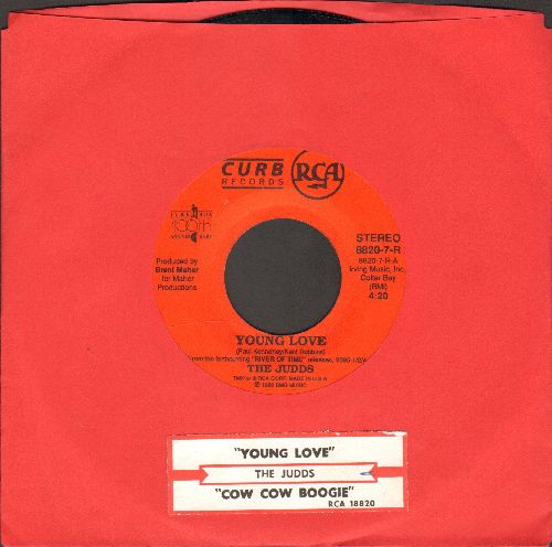 Judds - Young Love/Cow Cow Boogie (with juke box label) - NM9/ - 45 rpm Records