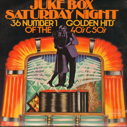 Miller, Glenn, Harry James, Crew Cuts, Kitty Kallen, others - Juke Box Saturday Night - 36 No. 1 Golden Hits of the 40s & 50s: Personality, The Thing, Sh-Boom, Sincerely, You Belong To Me (2 vinyl STEREO LP record set, re-issue of vintage recordings) - NM