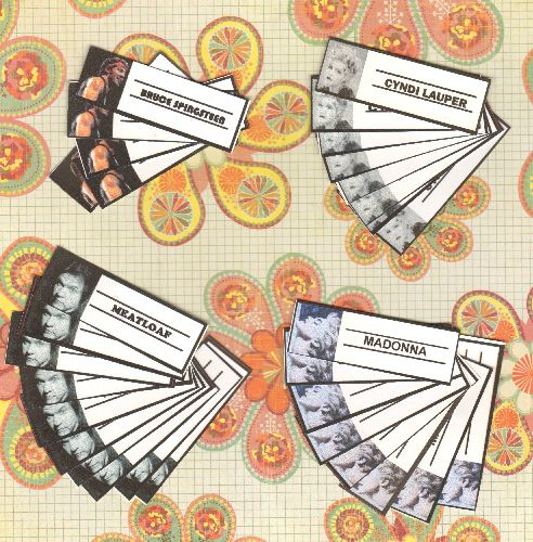 Juke Box Labels - 32 juke box labels with names and pictures of Top Artists (exactly as pictured!) - NM9/ - Supplies