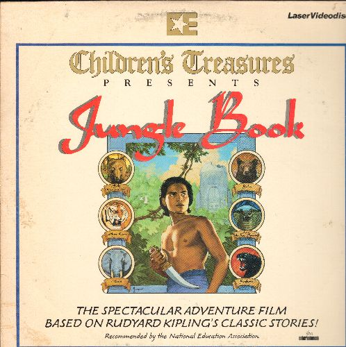 Jungle Book Presented by Childrens Treasures - Jungle Book LASER DISC Presented By Childrens Treasures (NOTE THIS IS THE 1942 LIVE ACTION VERSION, NOT DISNEY'S ANIMATED VERSION) - NM9/EX8 - Laser Discs