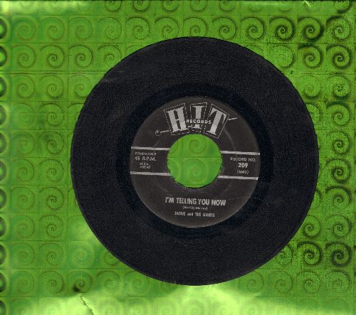 Jackie & The Giants - I'm Telling You Now/Come On On (contemporary cover versions of hits) - EX8/ - 45 rpm Records