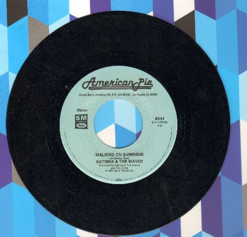 Katrina & The Waves - Walking On Sunshine/Do You Want Crying (double-hit re-issue) - NM9/ - 45 rpm Records