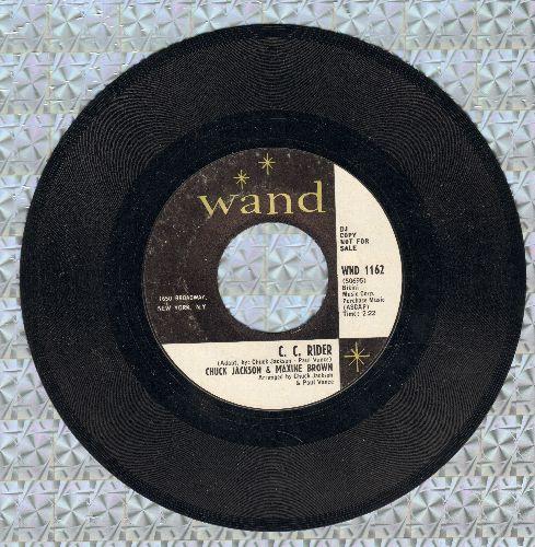 Jackson, Chuck & Maxine Brown - C. C. Rider/Tennessee Waltz (DJ advance pressing) - EX8/ - 45 rpm Records