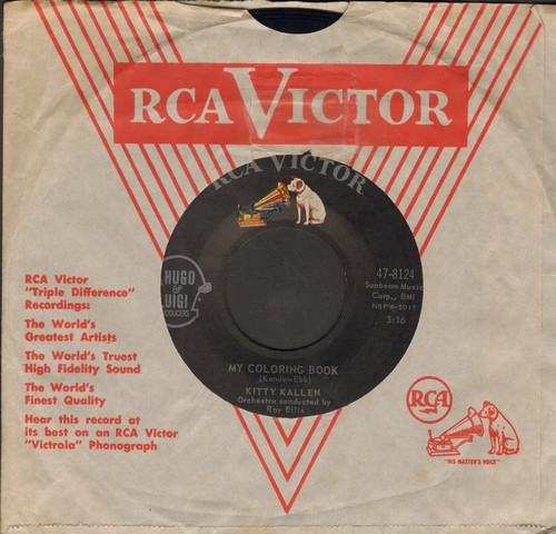 Kallen, Kitty - My Coloring Book/Here's To Us (first issue with RCA company sleeve) - NM9/ - 45 rpm Records