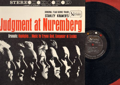 Gold, Ernest - Judgement at Nuremberg - Original Film Sound Track, dramatic highlights, music by Ernest Gold, composer of Exodus (vinyl STEREO LP record) - NM9/EX8 - LP Records