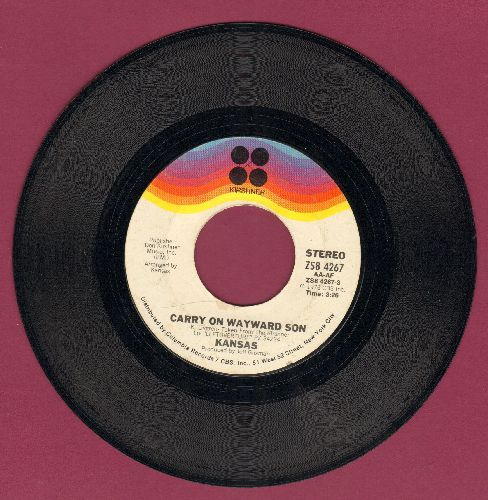 Kansas - Carry On Wayward Son/Questions Of My Childhood - EX8/ - 45 rpm Records