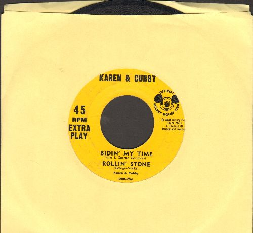 Karen & Cubby - Bidin' My Time/Rollin' Stone/What The Well Dressed Hobo/Will Wear (vinyl EP record featuring Mouseketeers Karen & Cubby) - VG6/ - 45 rpm Records