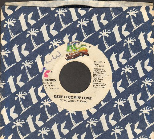 K.C. & The Sunshine Band - Keep It Comin' Love/Baby I Love You (with company sleeve) - EX8/ - 45 rpm Records