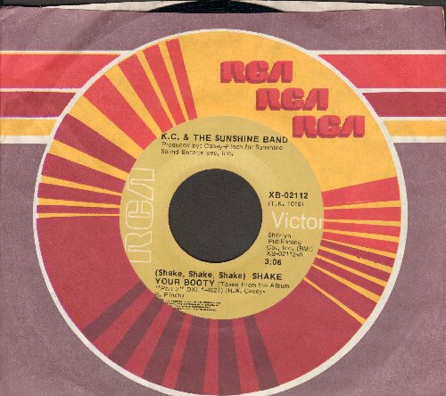 K.C. & The Sunshine Band - Shake Your Booty (Shake Shake Shake)/Boogie Shoes (RARE RCA label pressing with company sleeve) - EX8/ - 45 rpm Records