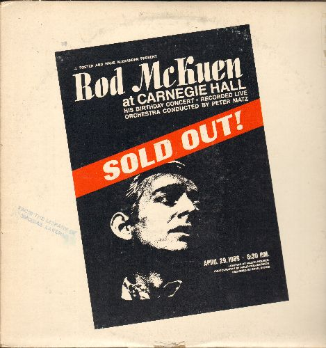 McKuen, Rod - Rod McKuen at Carnegie Hall - SOLD OUT!: April 29, 1969 recorded in live performance (2 vinyl STEREO LP record) - EX8/VG7 - LP Records
