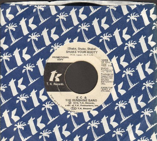 K.C. & The Sunshine Band - Shake Your Booty (Shake Shake Shake) (double-A-sided DJ advance pressing with T.K. Company sleeve) - EX8/ - 45 rpm Records