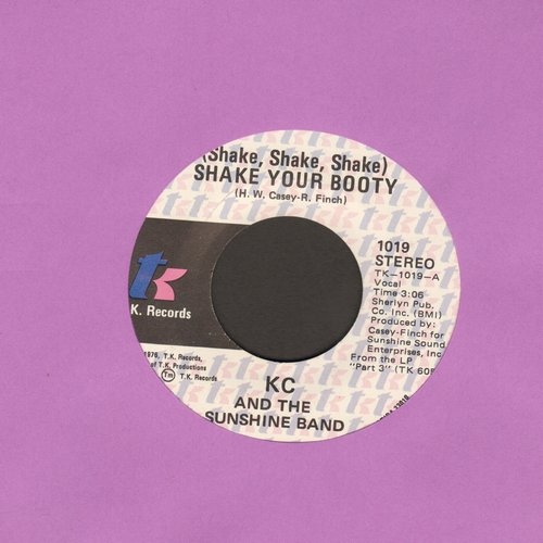 K.C. & The Sunshine Band - Shake Your Booty (Shake Shake Shake)/Boogie Shoes (wol) - VG6/ - 45 rpm Records