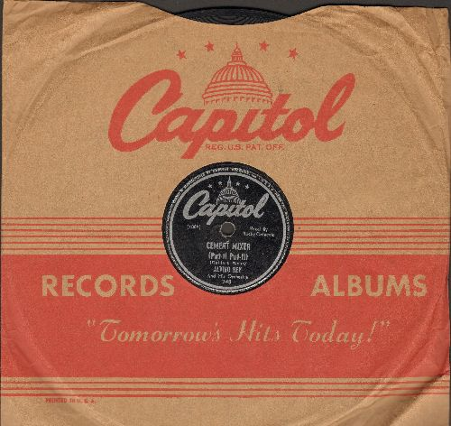 Coluccio, Rocky with Alvino Rey & His Orchestra - Cement Mixer (Put-ti Put-ti)/We'll gather Lilacs (Vocal by Jo Anne Ryan & Quartet) (10 inch 78 rpm record with Capitol company sleeve) - VG7/ - 78 rpm