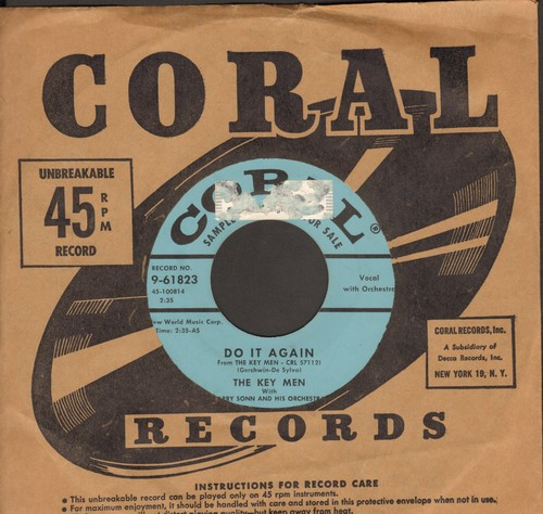 Key Men - Do It Again/I Ain't Got Nobody (DJ advance pressing with Coral company sleeve) (sol) - NM9/ - 45 rpm Records