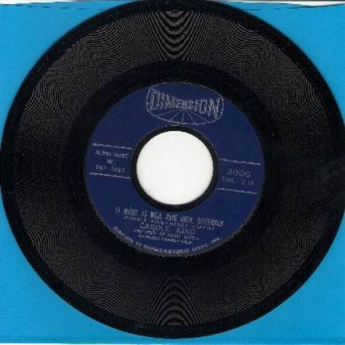 King, Carole - It Might As Well Rain Until September/Nobody's Perfect  - VG7/ - 45 rpm Records