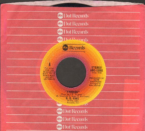 King, B. B. - Friends/My Song (with ABC company sleeve) - NM9/ - 45 rpm Records