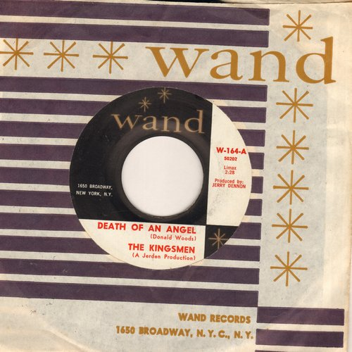Kingsmen - Death Of An Angel/Searching For Love (MINT condition with vintage Wand company sleeve) - M10/ - 45 rpm Records