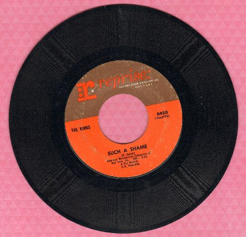 Kinks - Such A Shame/A Well Respected Man  - EX8/ - 45 rpm Records