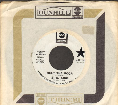 King, B. B. - Help The Poor/Lucille's Granny (DJ advance pressing with company sleeve) - NM9/ - 45 rpm Records