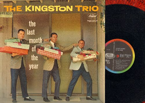 Kingston Trio - The Last Month Of The Year: We Wish You A Merry Christmas, Sing We Noel, The White Snows Of Winter, Goodnight My Baby (vinyl STEREO LP record, German Pressing) - NM9/NM9 - LP Records