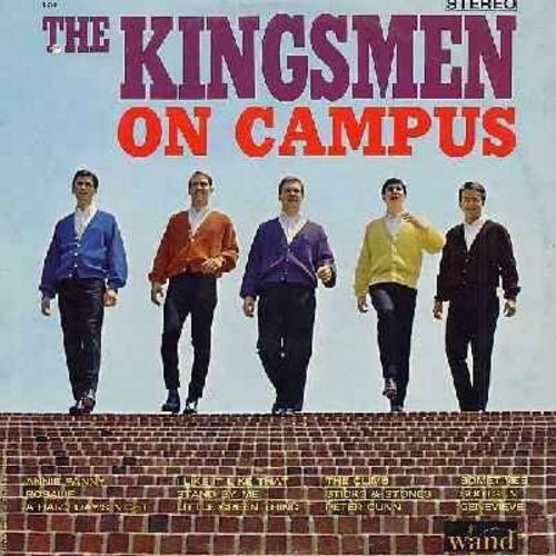 Kingsmen - The Kingsmen On Campus: Annie Fanny, Rosalie, Stand By Me, Peter Gunn, Shotgun, A Hard Day's Night (vinyl STEREO LP record) - NM9/EX8 - LP Records